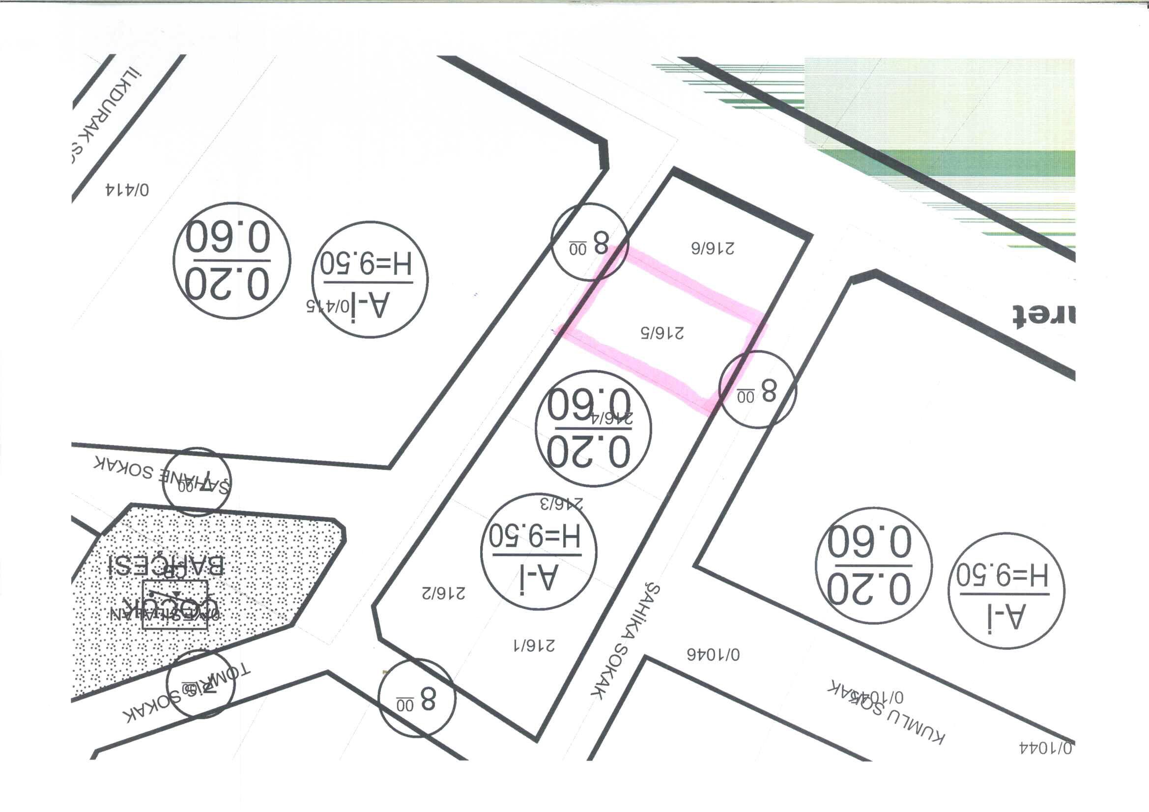 KUMBURGAZ DA 400-415 M² SATILIK 3 KAT KONUT İMARLI ARSA /800000TL
